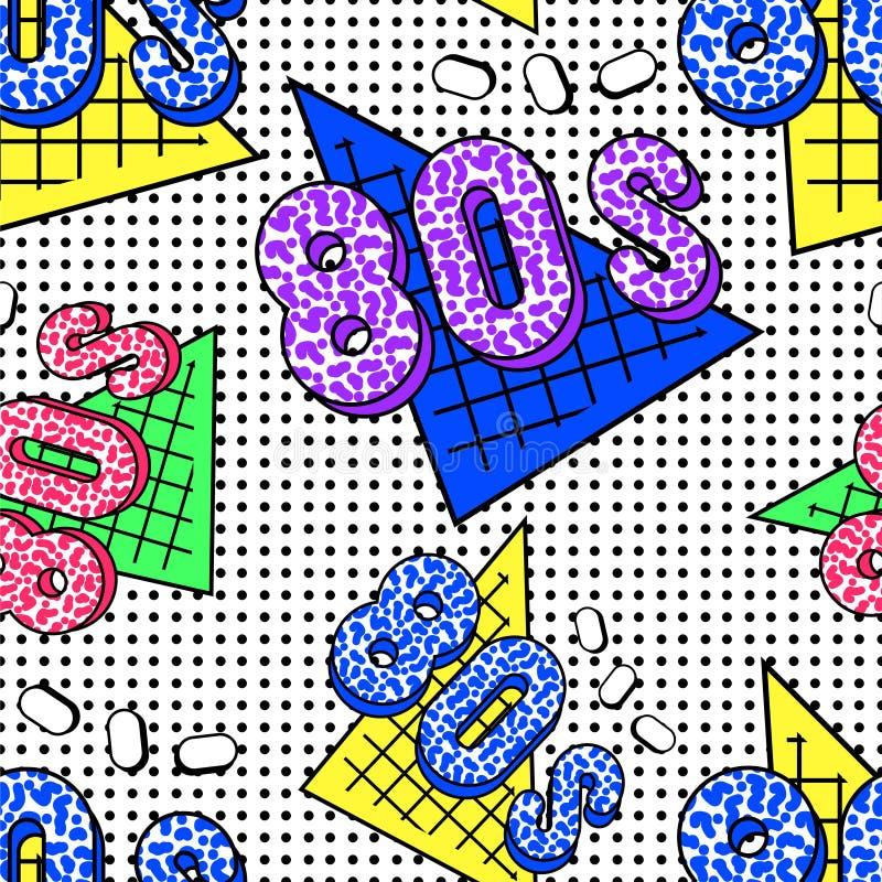 teste padrão de 80s Memphis ilustração do vetor