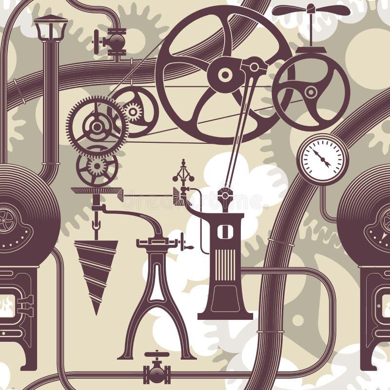 Teste padrão de Steampunk ilustração royalty free