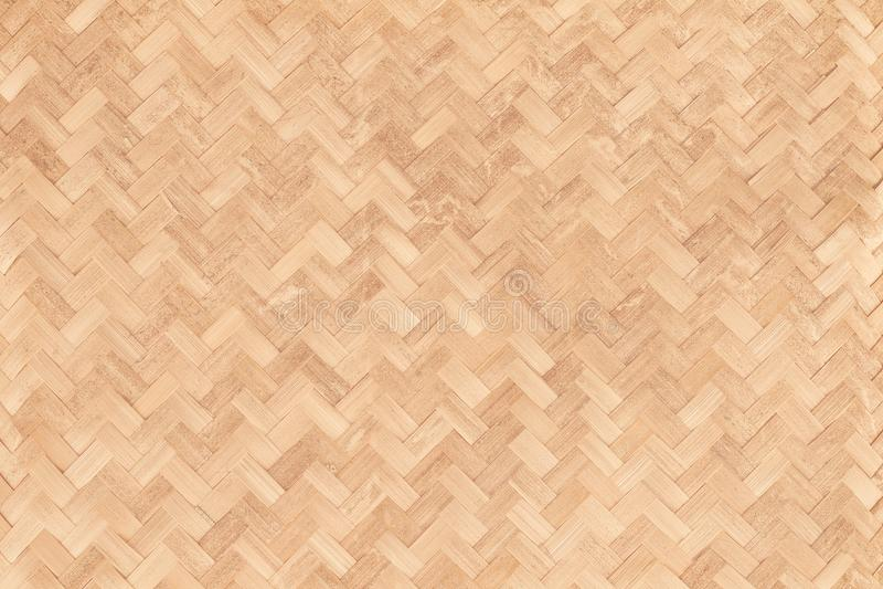 Teste padrão de tecelagem de bambu velho, textura tecida da esteira do rattan foto de stock