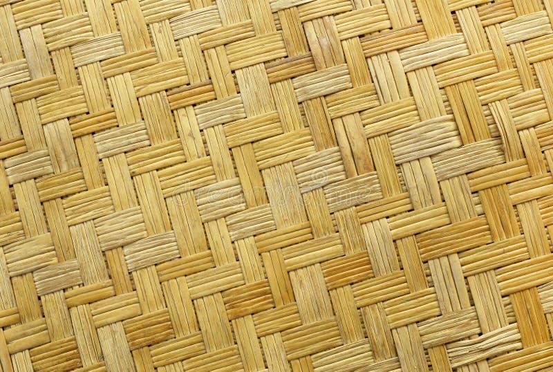 Teste padrão de tecelagem de bambu velho, textura tecida da esteira do rattan para o fundo e trabalho de arte do projeto fotos de stock