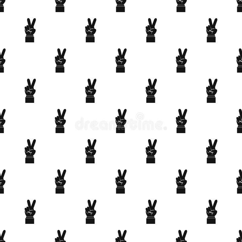Teste padrão de victoria do gesto, estilo simples ilustração stock