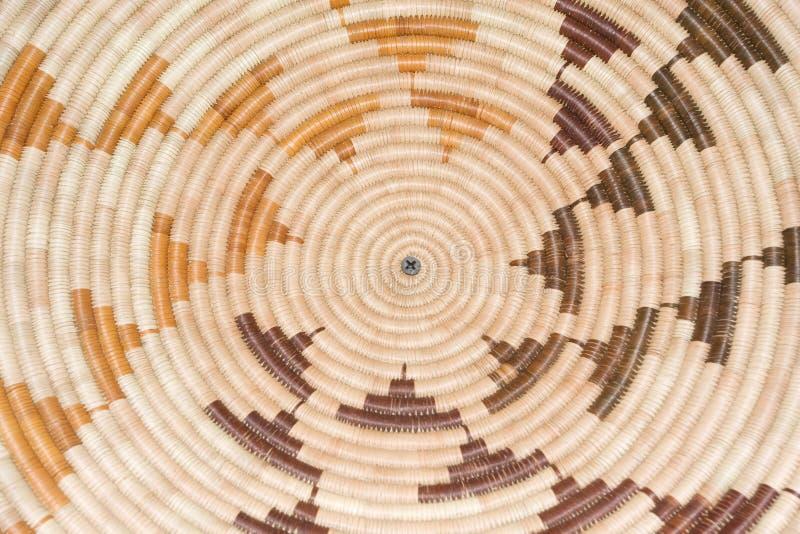 Teste padrão de weave de cesta circular fotografia de stock royalty free
