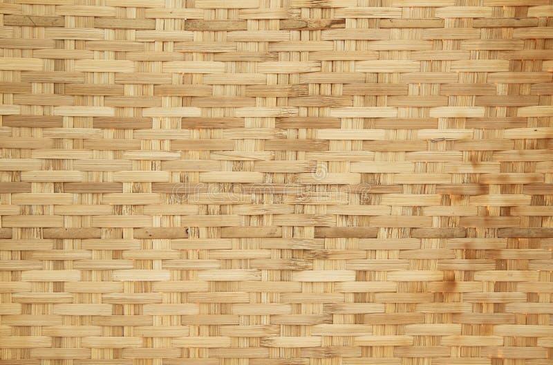 Teste padrão de weave de cesta de bambu fotos de stock