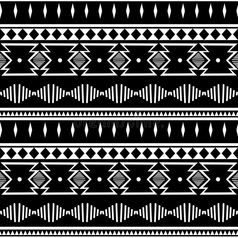 Teste padrão de ziguezague abstrato para o projeto da tampa Fundo retro do vetor da viga Cores preto e branco sem emenda decorati ilustração royalty free