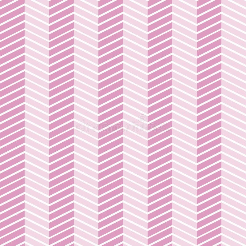 Teste padrão de ziguezague fino sem emenda ilustração stock