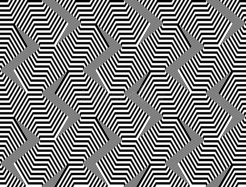 Teste padrão de ziguezague monocromático sem emenda do projeto ilustração do vetor