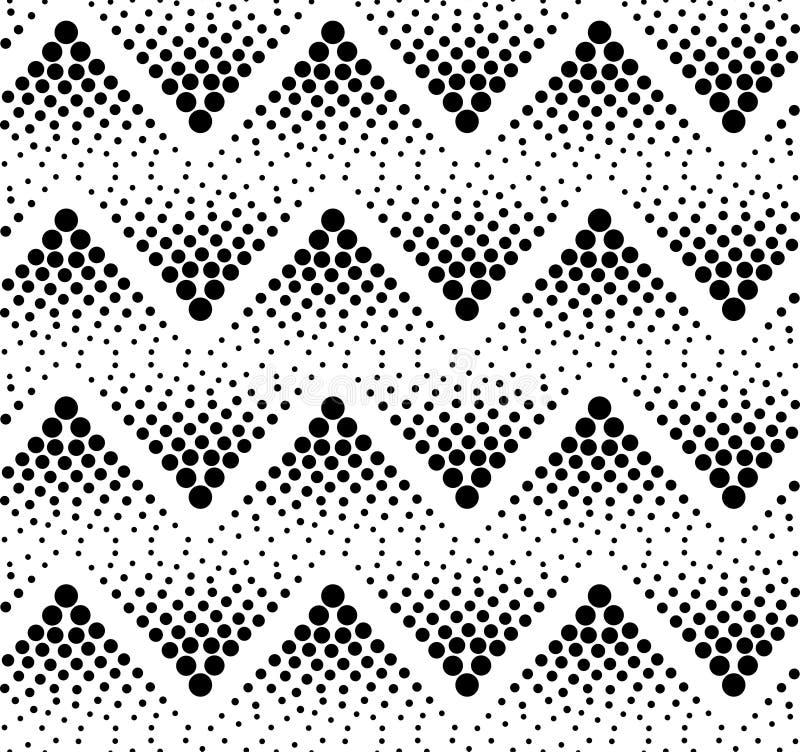 Teste padrão de ziguezague preto sem emenda ilustração stock