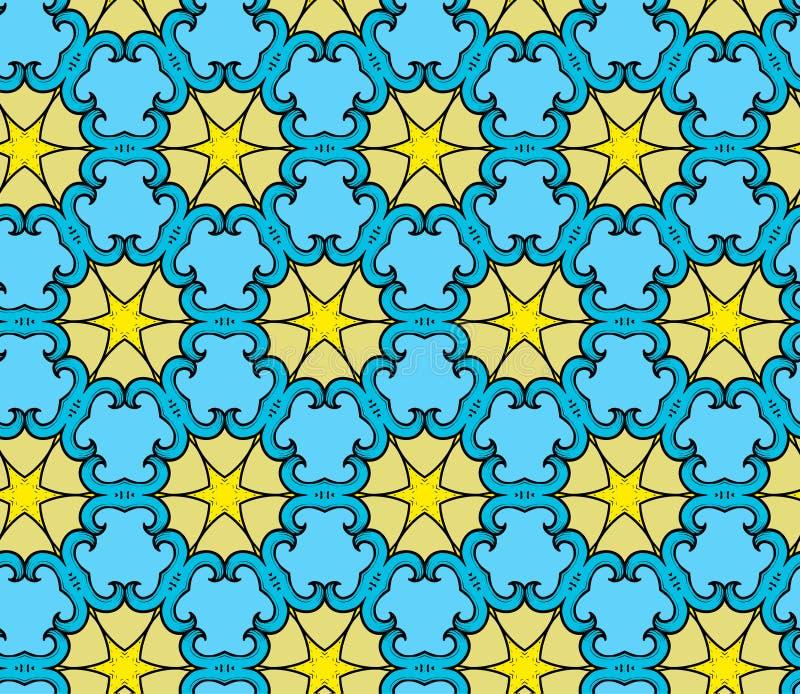 Teste padrão decorativo com estrelas ilustração stock