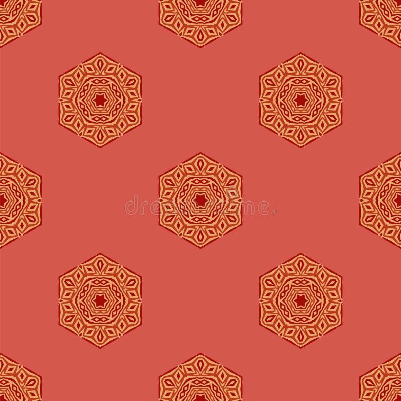 Teste padrão decorativo criativo sem emenda ilustração do vetor