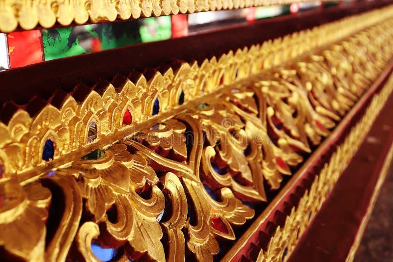 Teste padrão decorativo da arte tailandesa fotografia de stock