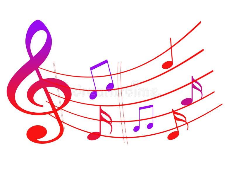 Teste padrão decorativo das notas musicais fotos de stock