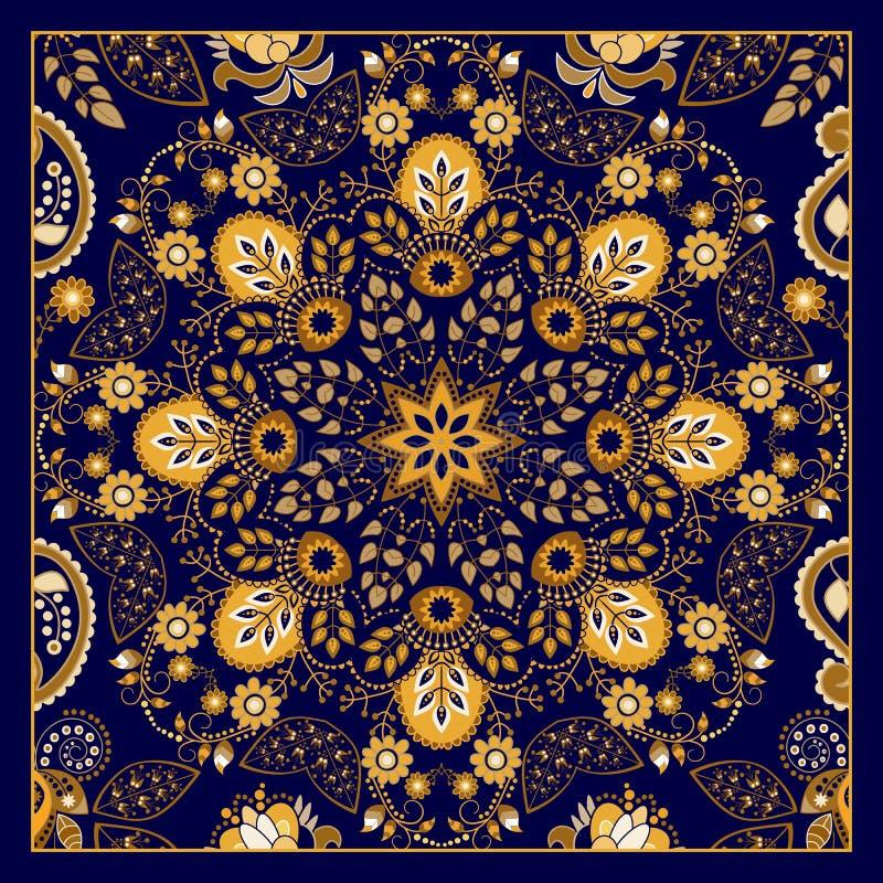 Teste padrão decorativo de Paisley, projeto para o bolso ilustração stock