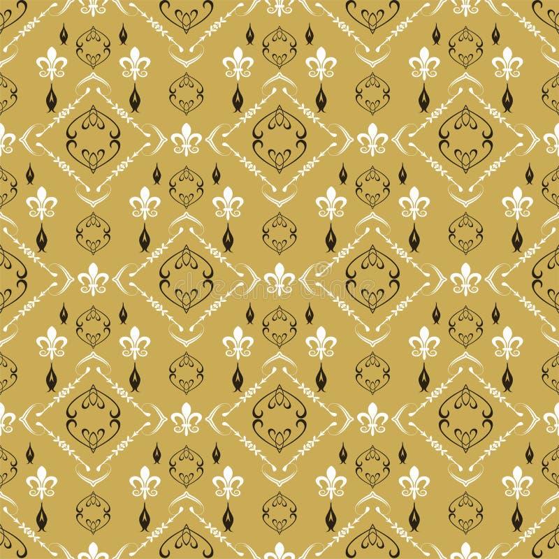 Teste padrão decorativo do fundo na imagem de fundo retro do estilo Textura sem emenda do papel de parede do teste padrão Imagem  ilustração royalty free
