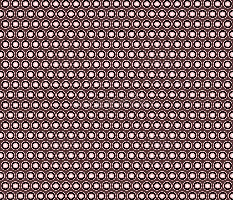 Teste padrão decorativo dos círculos e dos pontos ilustração royalty free