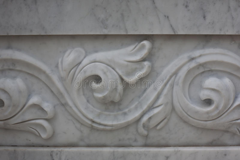 Teste padrão decorativo em uma laje de mármore, fundo, textura Arquitetura da fonte imagem de stock