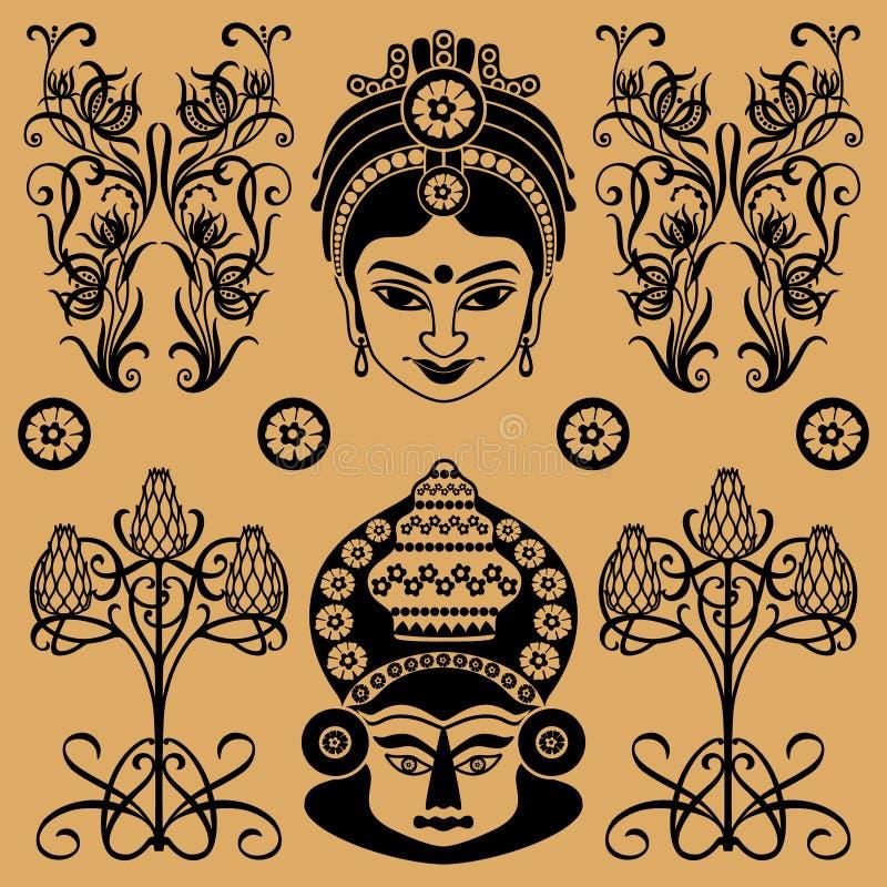 Teste padrão decorativo indiano ilustração stock