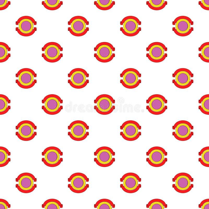 Teste padrão decorativo redondo da etiqueta, estilo dos desenhos animados ilustração stock
