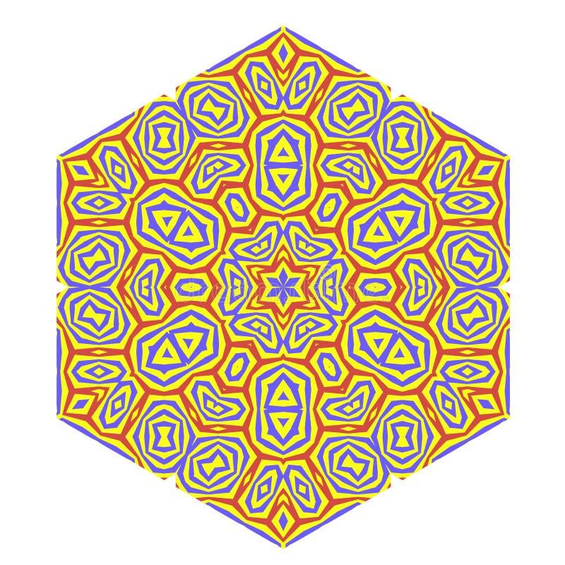Teste padrão decorativo Símbolo decorativo criativo ilustração do vetor