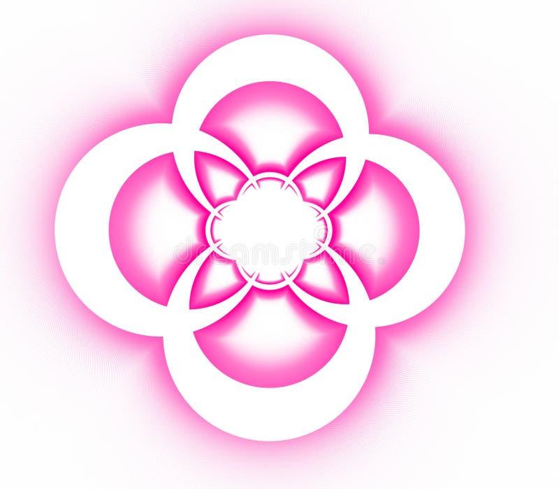 Teste padrão decorativo simétrico abstrato da cruz cor-de-rosa ilustração do vetor