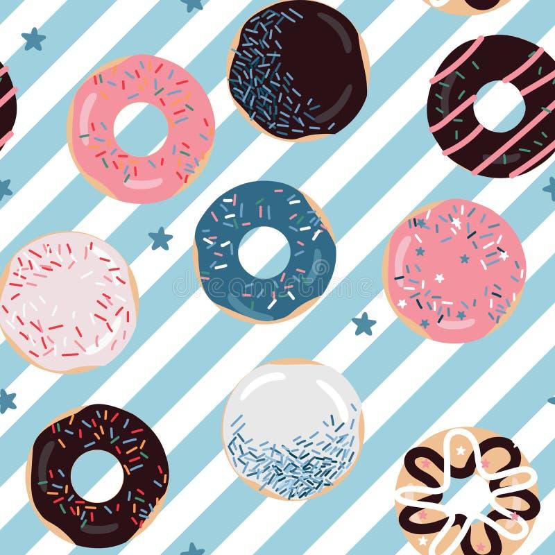 Teste padrão delicioso dos anéis de espuma das cores pastel fotografia de stock