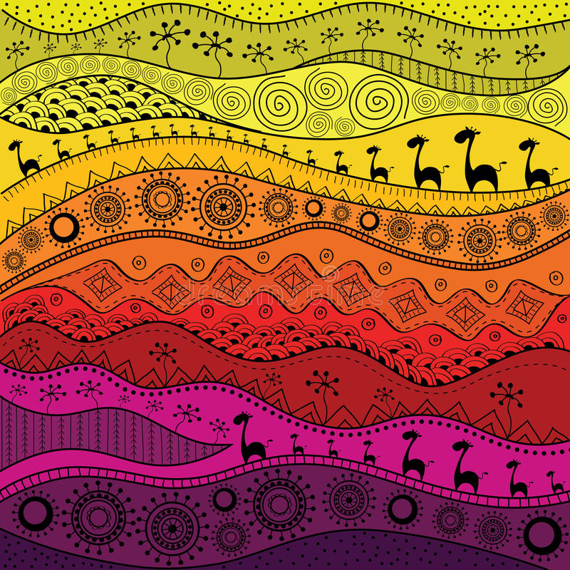 Download Teste Padro Desenhado Mo Africano