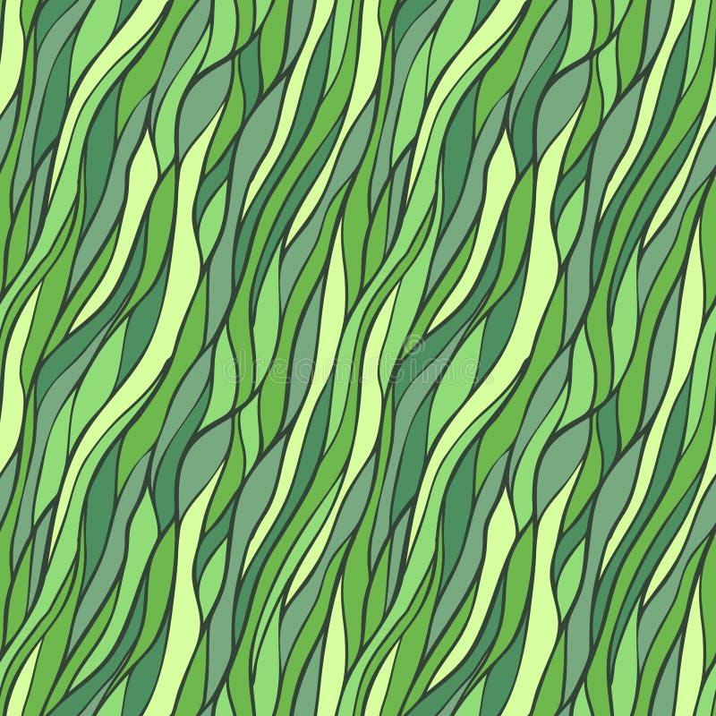 Teste padrão desenhado à mão sem emenda com ondas abstratas. ilustração royalty free