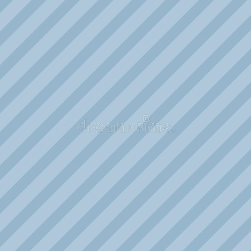Teste padrão diagonal infinito de escuro e de claro - listras azuis Repetição de linhas de inclinação em tons pasteis creativo ilustração stock