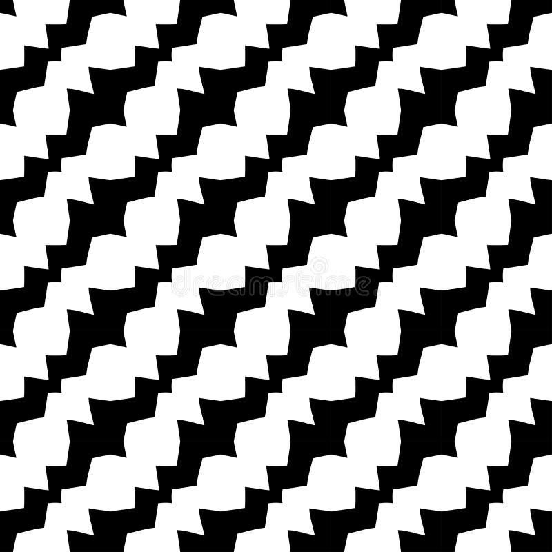 Teste padrão diagonal preto e branco geométrico abstrato do deco do projeto gráfico ilustração do vetor