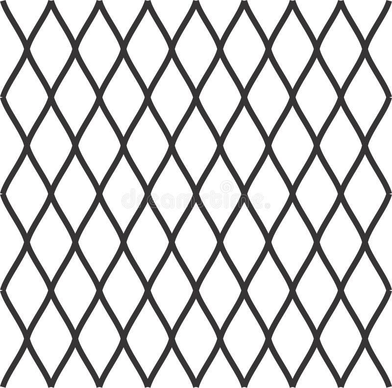 Teste padrão diagonal sem emenda dos diamantes Os rombos texture, engrenam o fundo ilustração stock