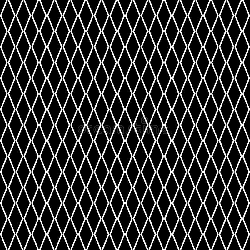Teste padrão diagonal sem emenda dos diamantes Os rombos texture, engrenam o fundo ilustração do vetor