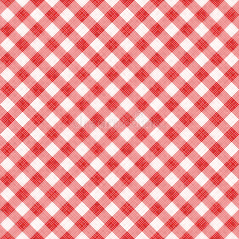 Teste padrão diagonal vermelho sem emenda do guingão, ou pano da tela ilustração royalty free