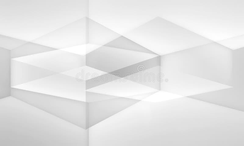 Teste padrão digital branco abstrato, papel de parede 3 d ilustração royalty free
