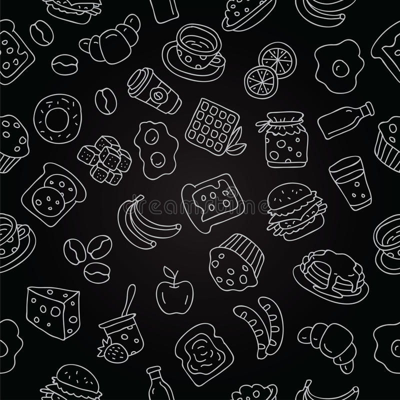 Teste padrão do ícone para o café da manhã ilustração do vetor