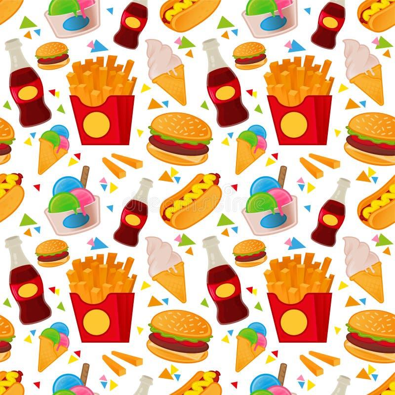 Teste padrão do alimento da rua ilustração stock