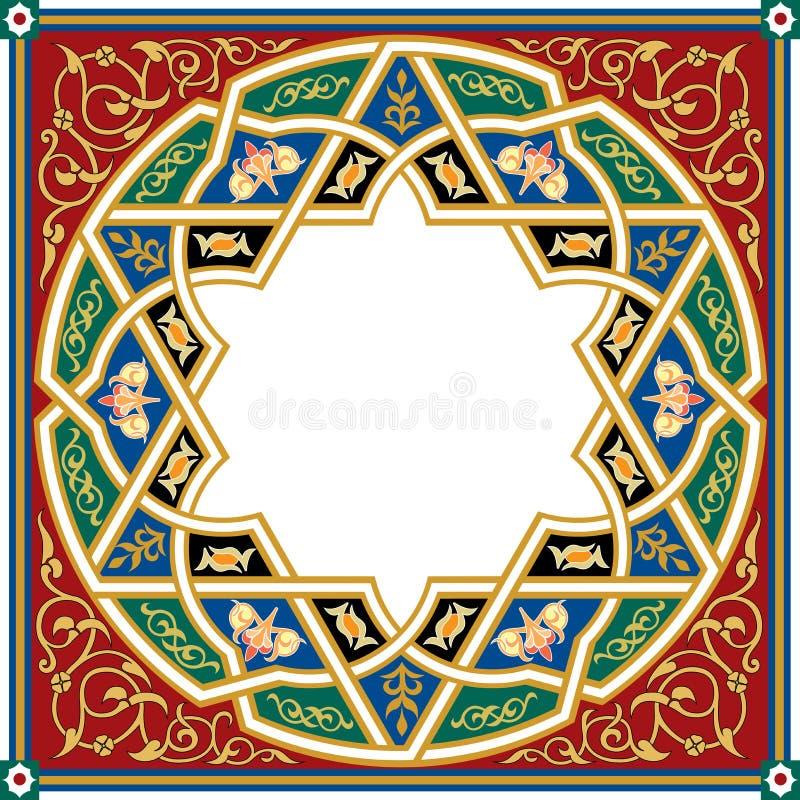 Teste padrão do Arabesque ilustração do vetor