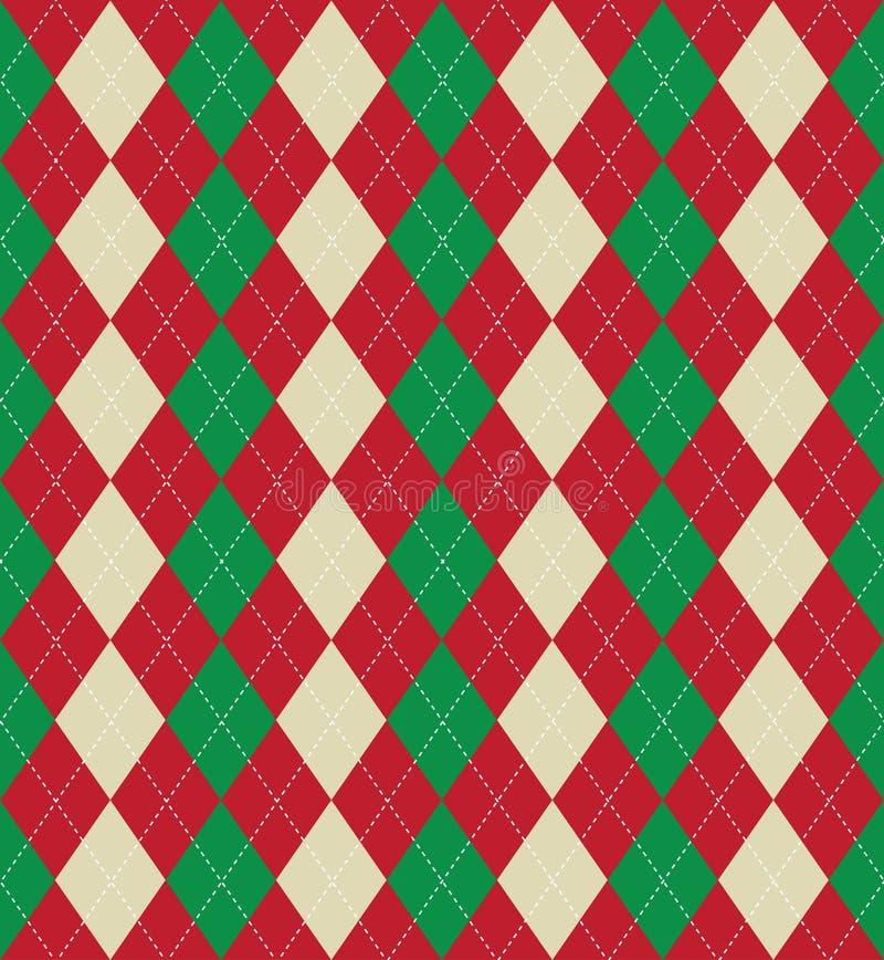 Teste padrão do argyle do Natal ilustração do vetor