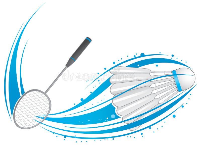 Teste padrão do Badminton ilustração stock