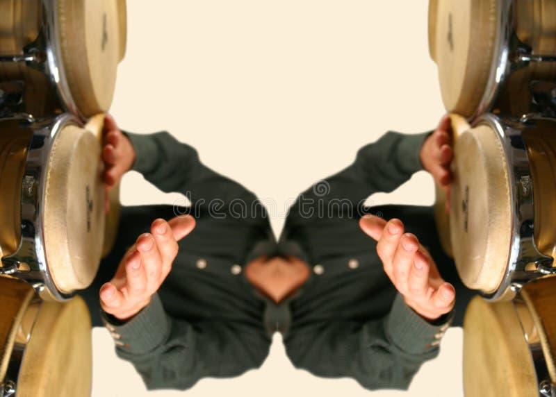 Teste padrão do baterista fotos de stock