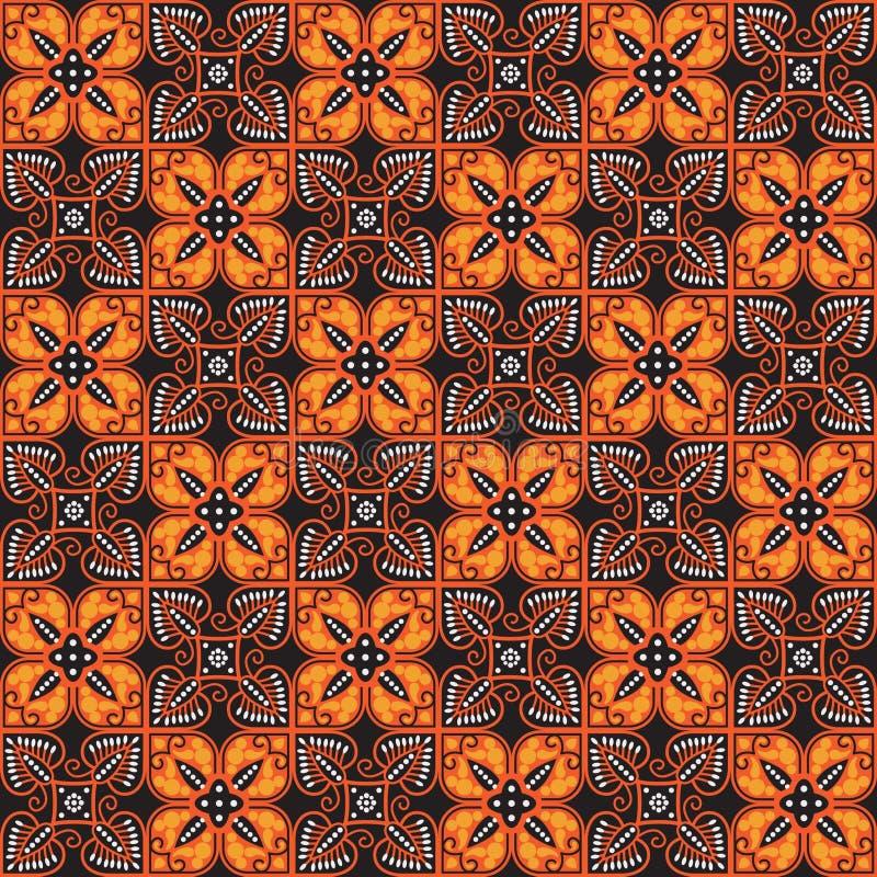 Teste padrão do Batik ilustração stock