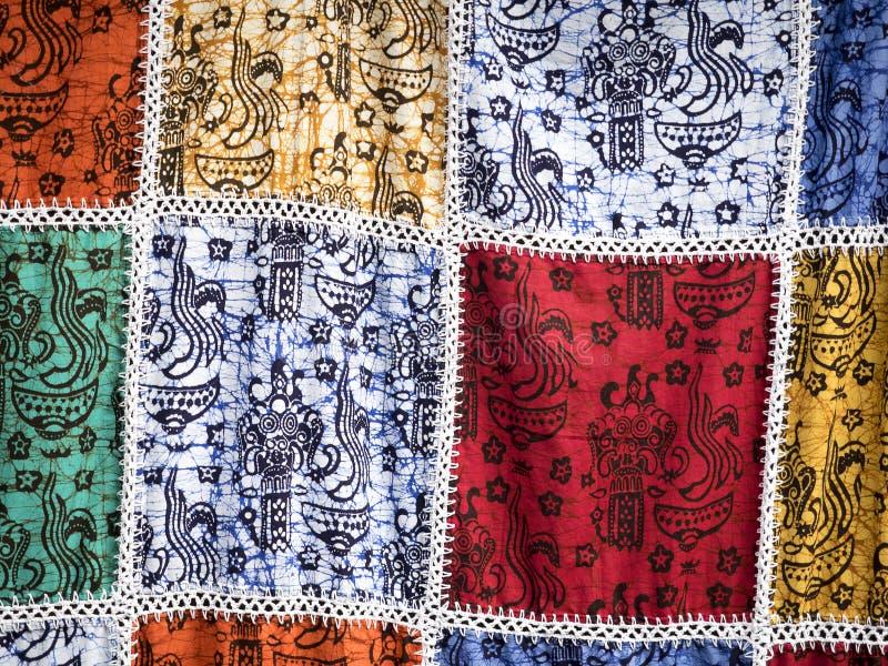 Teste padrão do batik de Bali ilustração stock