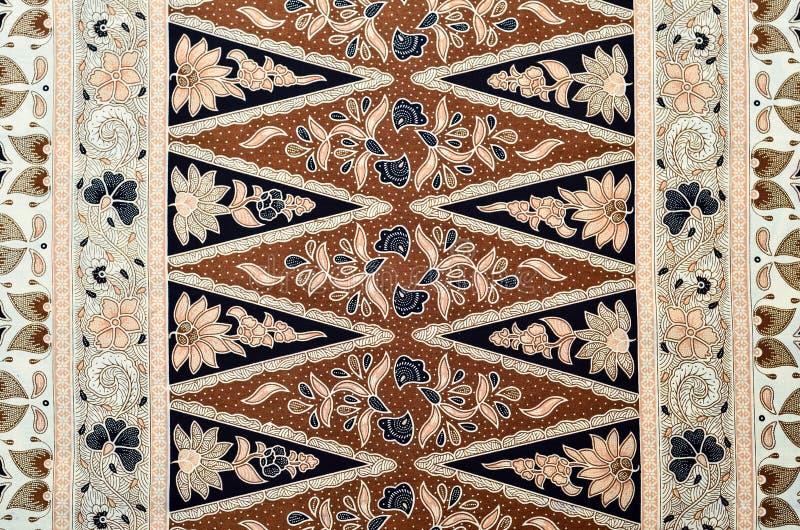 Teste padrão do Batik do Javanese imagem de stock
