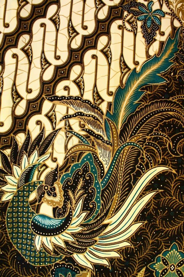 Teste padrão do Batik, Indonésia foto de stock
