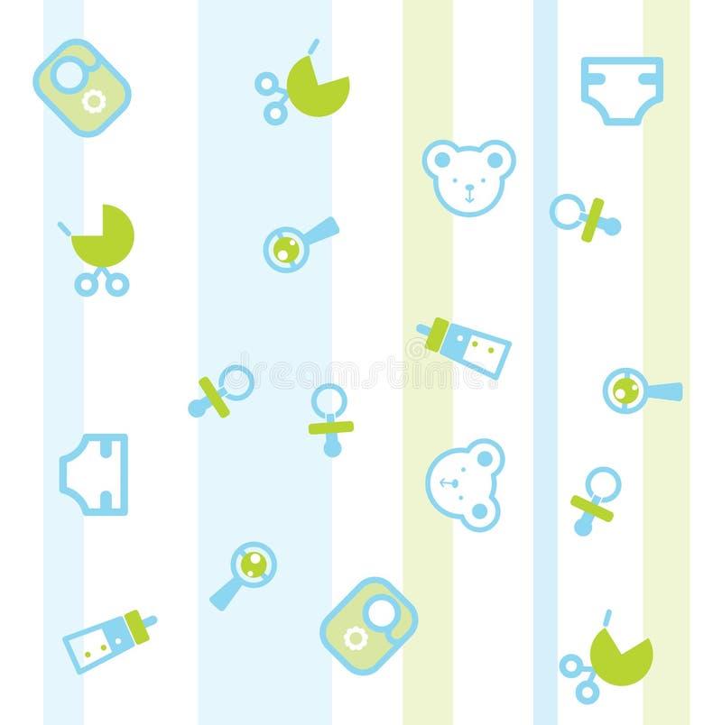 Teste padrão do bebê ilustração stock