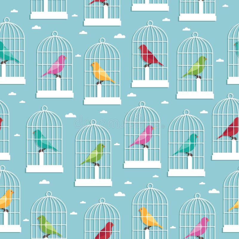 Teste padrão do Birdcage ilustração royalty free