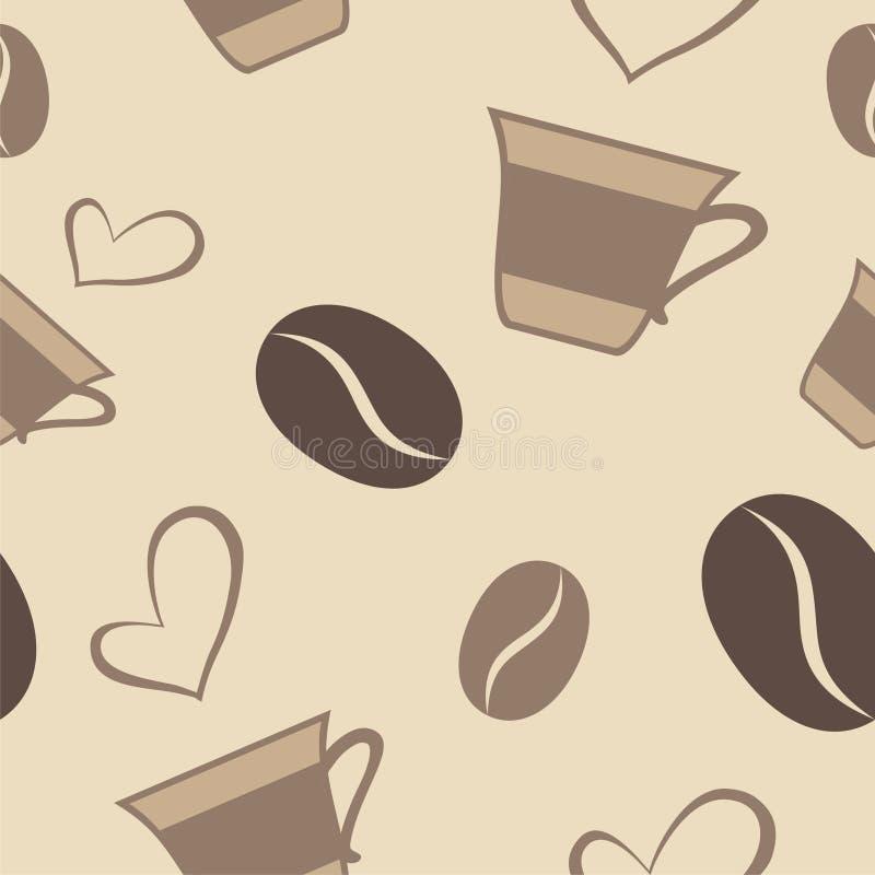 Teste padrão do café ilustração do vetor