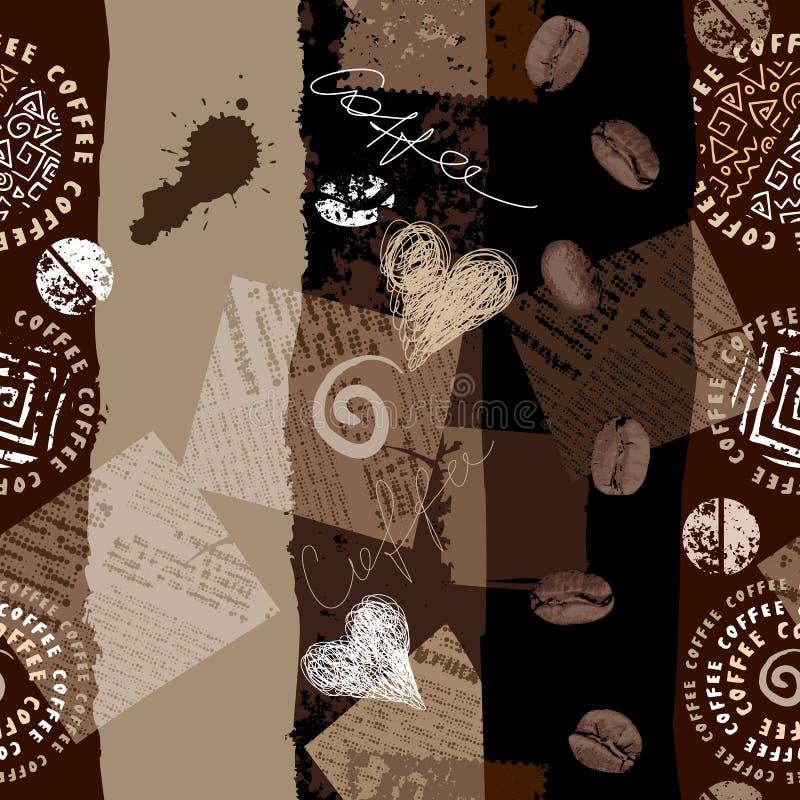 Teste padrão do café ilustração royalty free