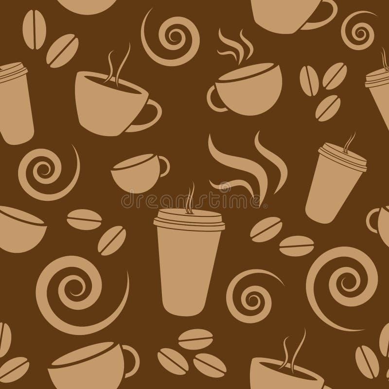 Teste padrão do café de Brown escuro ilustração stock