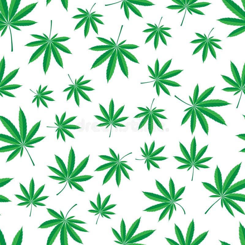 Teste padrão do cannabis ilustração do vetor