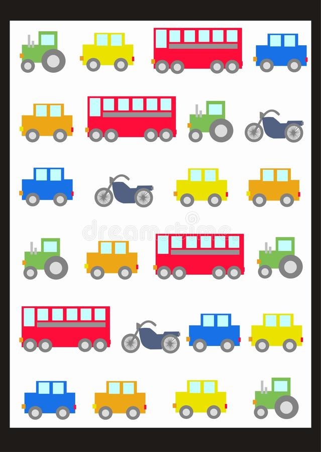 teste padrão do carro   ilustração stock