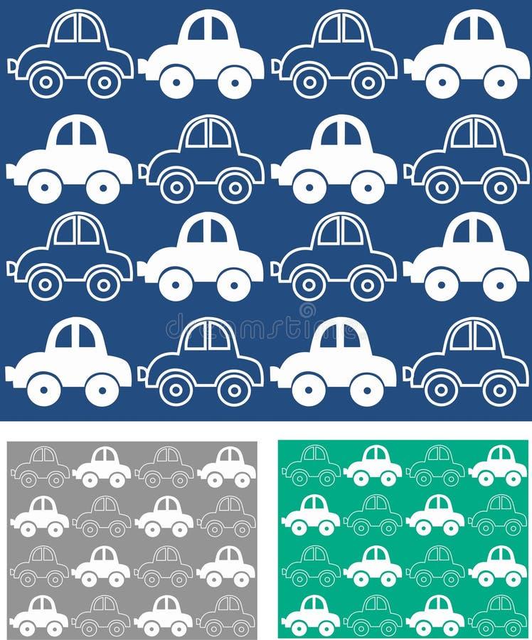 teste padrão do carro sem emenda ilustração do vetor